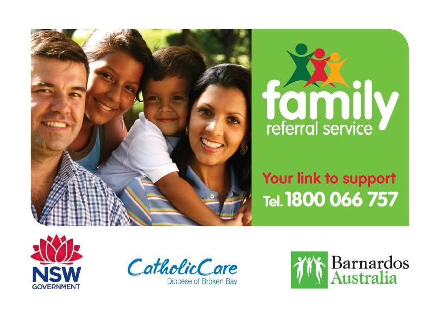 A poster for the family referral service.